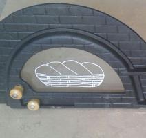 Porta de vidro para forno de pizza